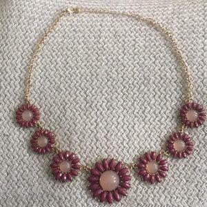 Francesca's purple flower necklace